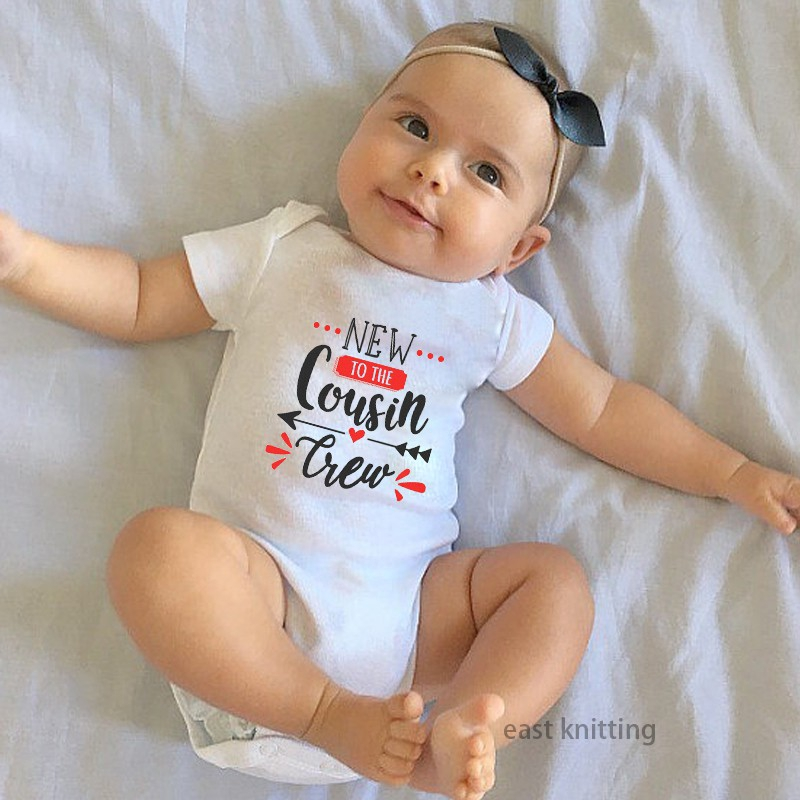 New to The Cousin Crew Newborn Infant Baby Summer Sleeveless Bodysuit Romper Jumpsuits Playsuit
