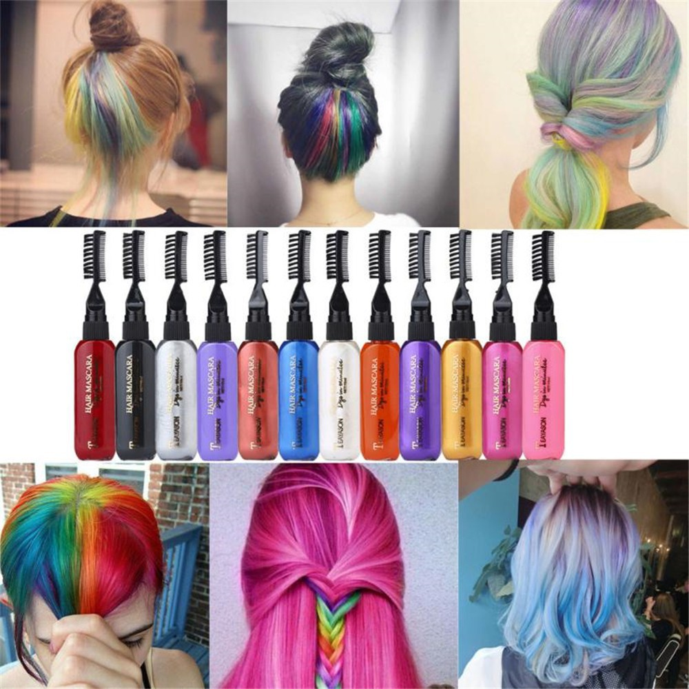 13 Colors Temporary Hair Dye Mascara Hair Dye Cream Non Toxic Diy Hair Dye Pen