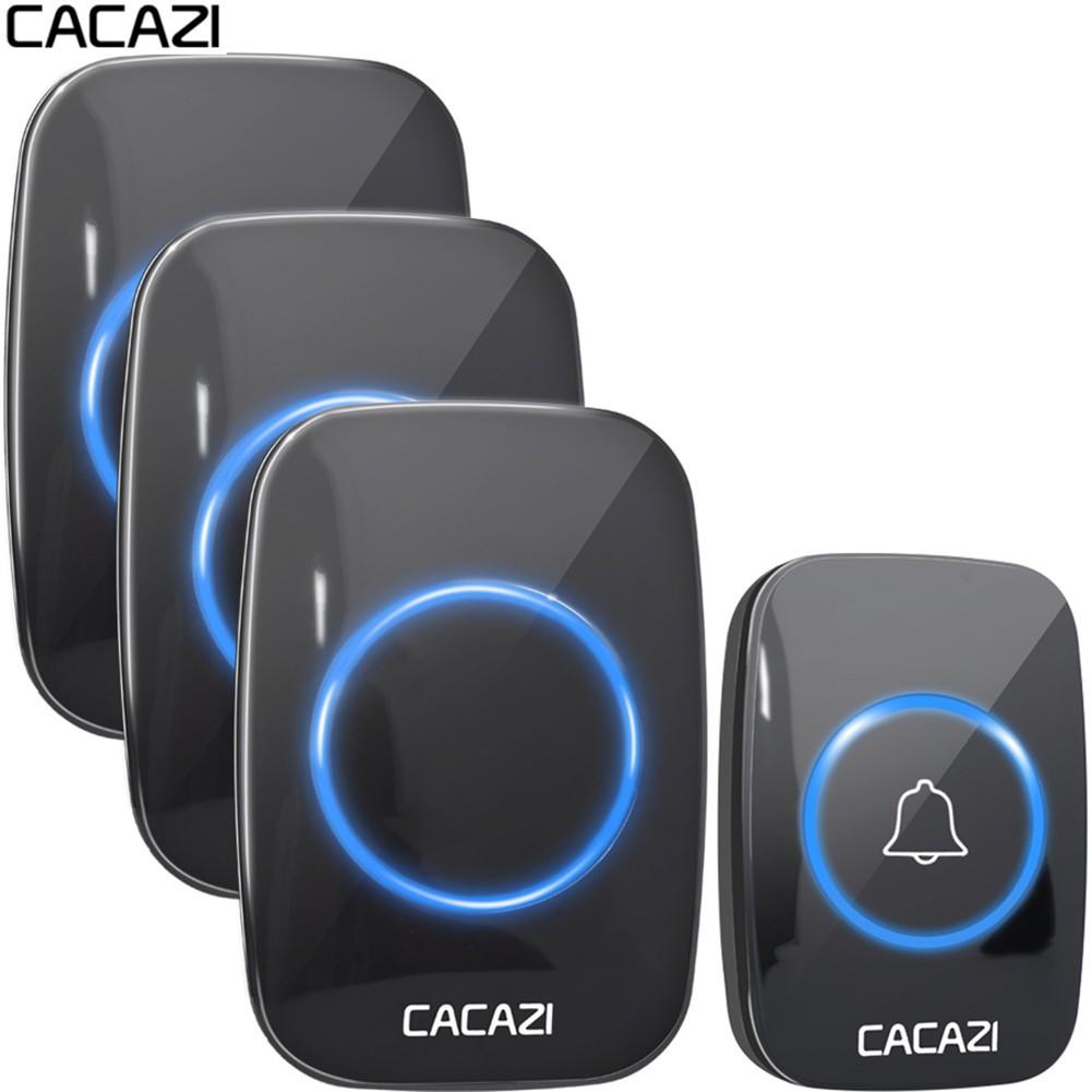 UK 300M Range Wireless Remote Control Doorbell Door Chime with Voice Intercom