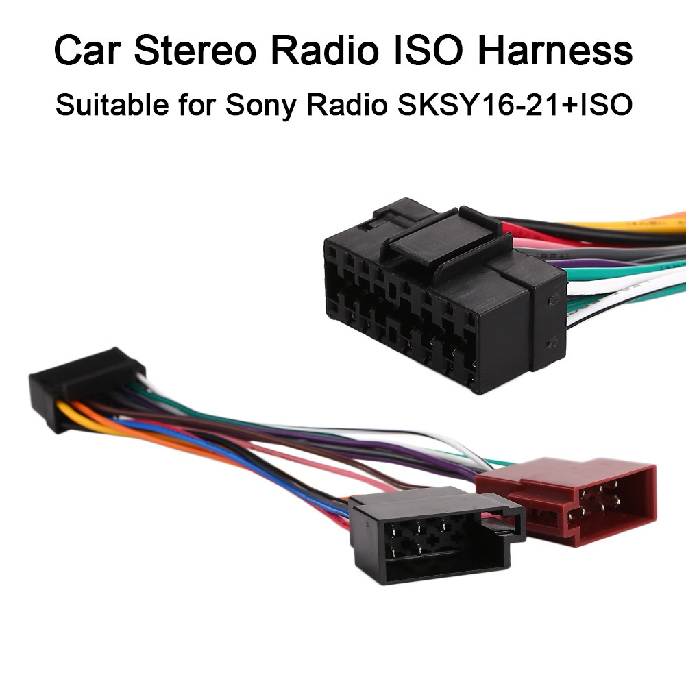 16 pin iso wiring harness connector adaptor loom for sony car stereo