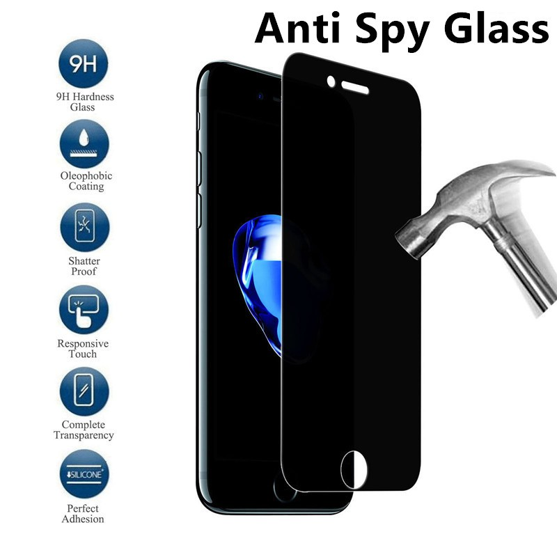 iPhone 6 s 7 8 Plus 7+ 8+ 11 Pro 6.5 11pro X Xs Max XR Anti Spy Privacy Tempered Glass Screen Protector Protective Film