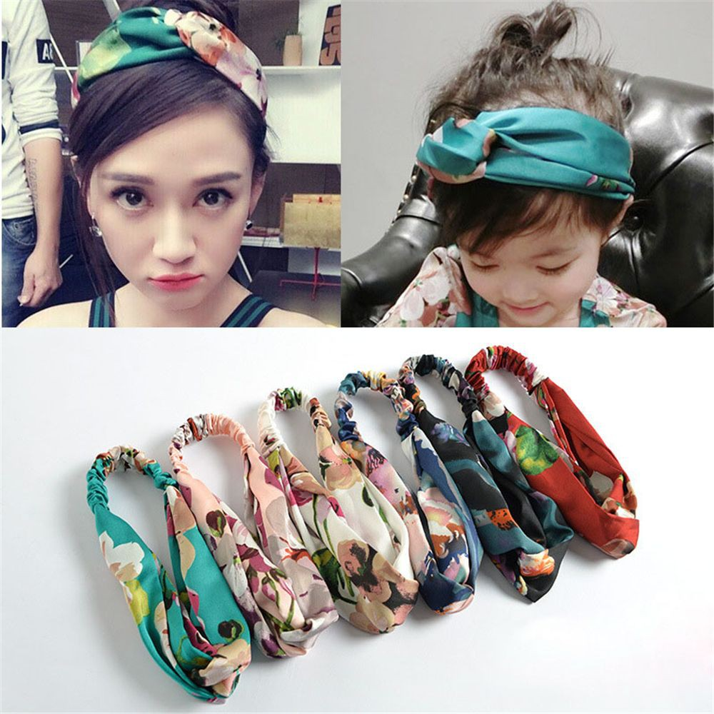 Korean Fresh Style Women Girls Iron Wired Twist Hairband Rabbit Ears Bowknot Headband Vintage Polka Dot Turban Headwrap 6 Color Excellent In Cushion Effect Apparel Accessories