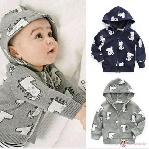 590901da4 Children Hooded Printed Outerwear Baby Boys Jackets Kids Winter ...