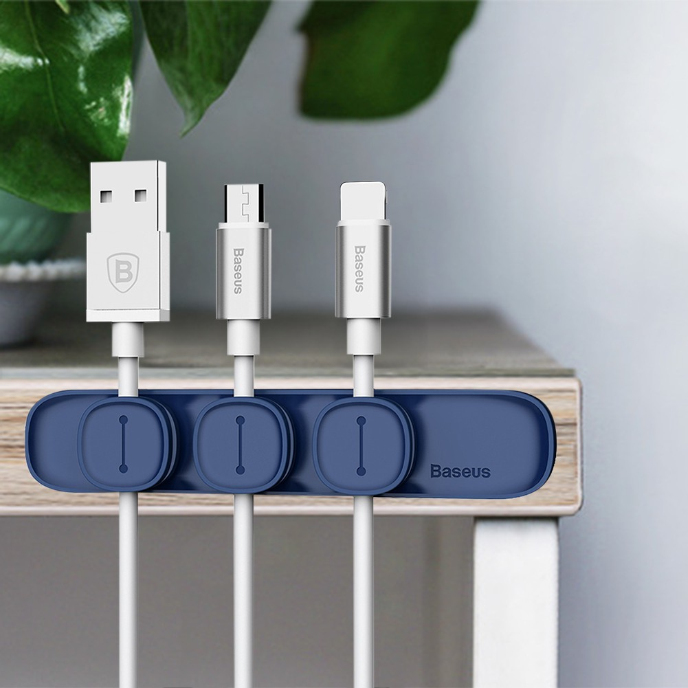 Baseus Magnetic Peas Cable Clip Cord Management Wire Organiser ...