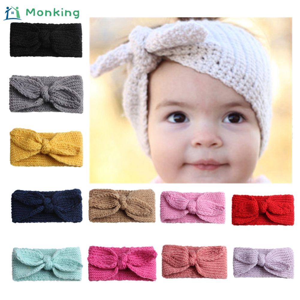 7e87c0b332f Cute baby crown knit headband children s hair band tiara hair band   Monking