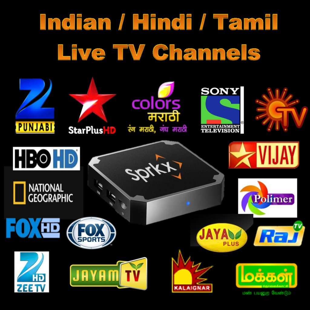 INDIAN / HINDI / TAMIL / US / SPORTS IPTV / ON DEMAND MOVIES & ANDROID TV  BOX