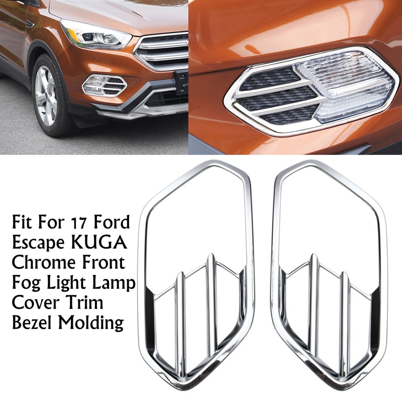 For Ford Escape Kuga 2017 2018 Front Fog light Lamp Cover Bezel Fog Light cover