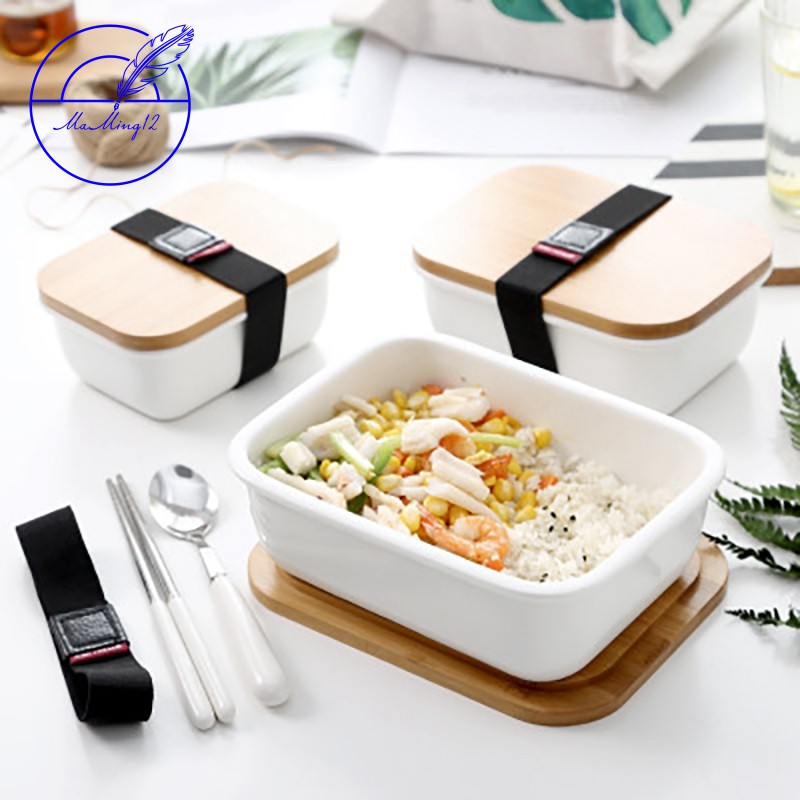 Hot Wooden Bento Lunch Box Food Container Japanese Thermal Insulation Lunch Box