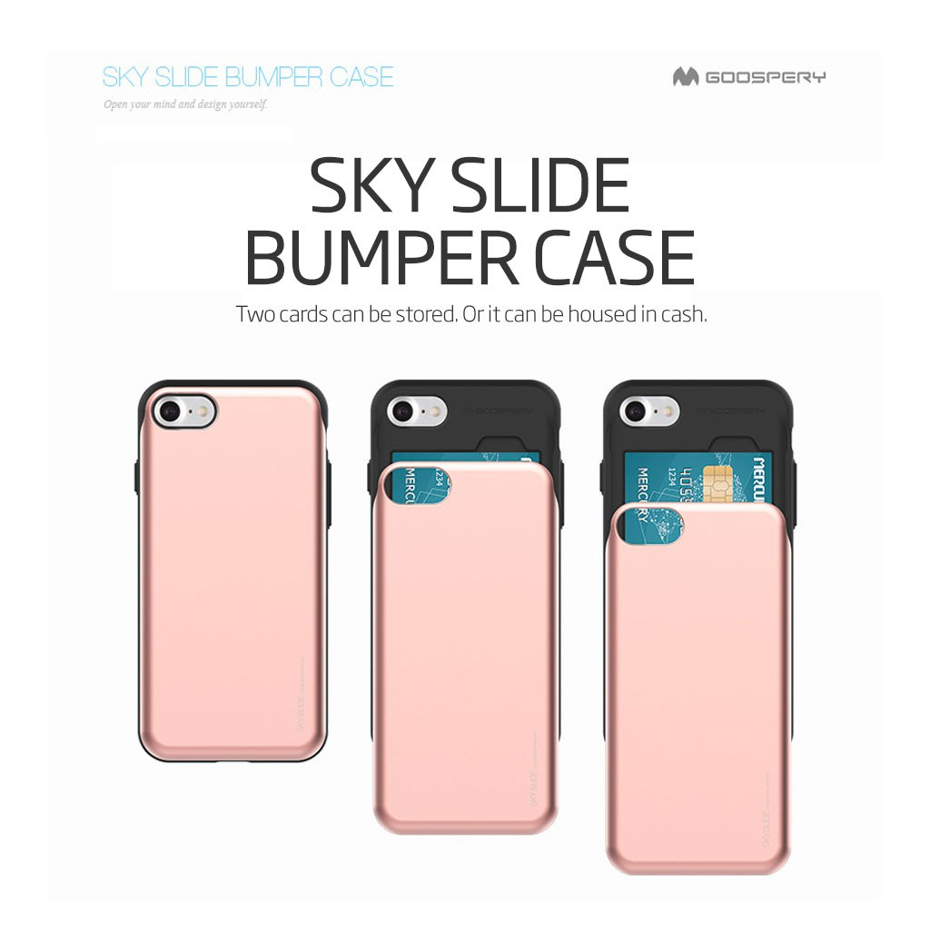 Iphone8 Iphone8plus Mercury Sky Slide Case With Card Wallet Goospery Iphone 8 Fancy Diary Yellow Hotpink Shopee Singapore