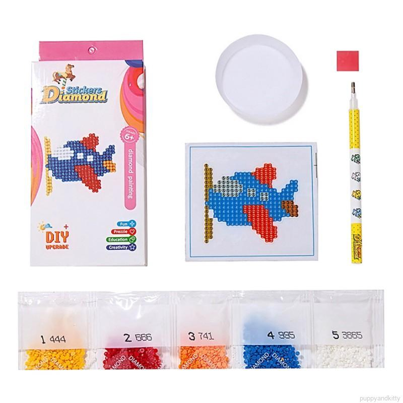 Puppyandkitty Kids Mosaic Sticker By Numbers Kits Arts And Crafts Set Shopee Singapore