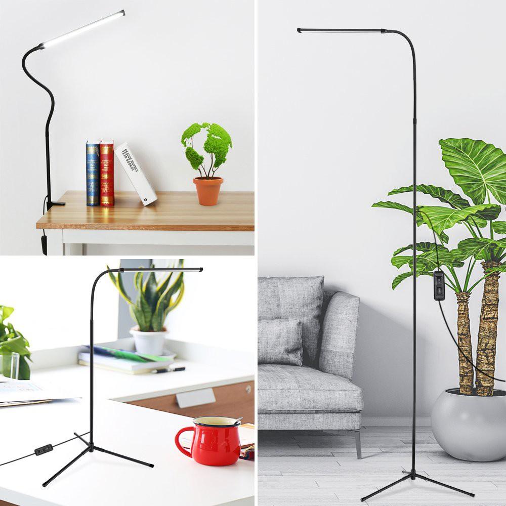 Modern Usb Led Floor Lamp Metal Shade