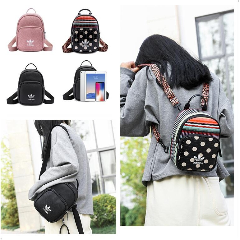 7816ca28c7a8 4 color in stock Ad1das Casual PU Backpack Female Cute Small Bag