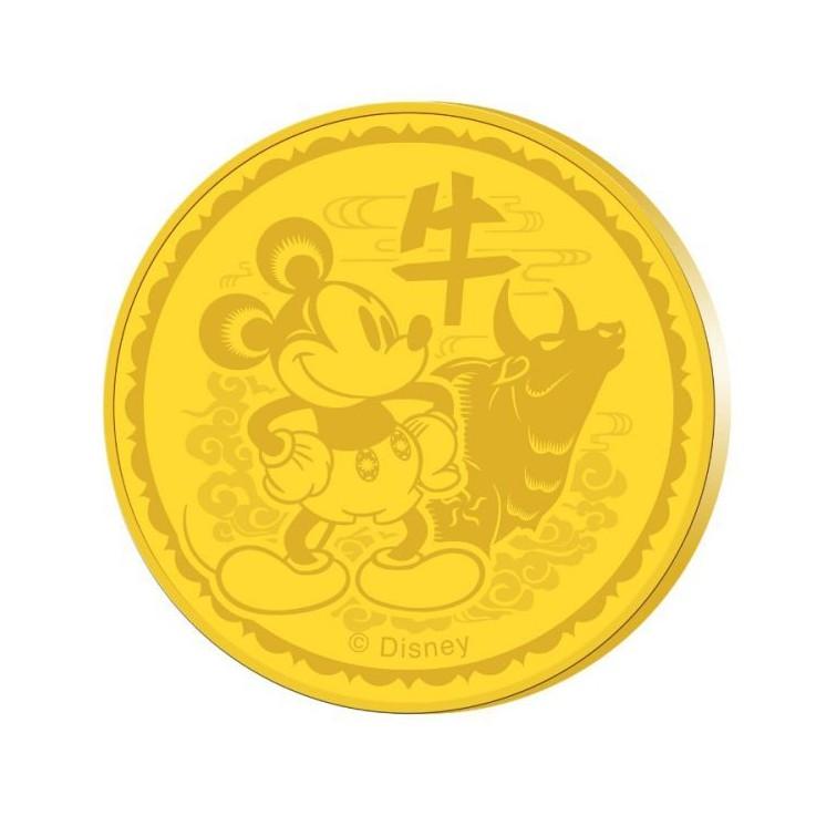 Disney 2021 Zodiac Ox 24k Gold Plated Medallion Festive Pack Shopee Singapore