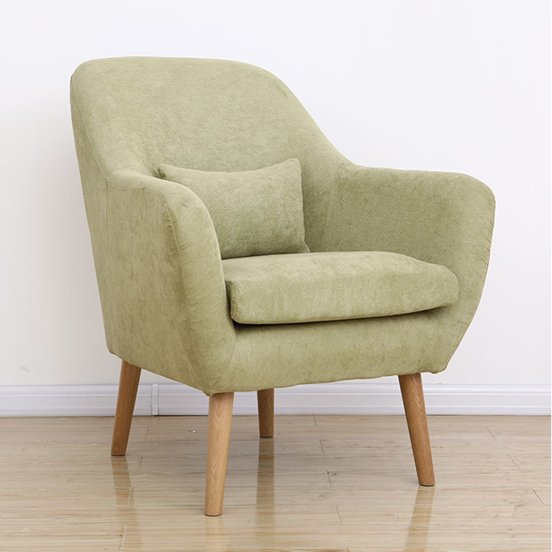 Lazy Sofa Small Apartment Modern Minimalist Creative Bedroom Sofa Nordic Fabric Balcony Leisure Single Sofa Chair