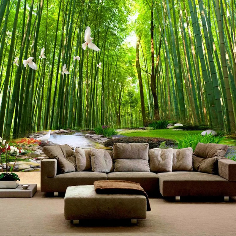 3D Wallpaper Bamboo Forest Nature View Living Room Bedroom