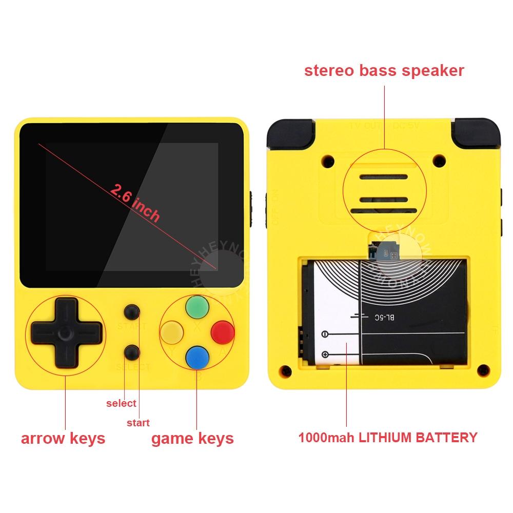 Retro FC Plus 168 Game Portable Handheld Video Game Player Classic mini O RLY Retro game console