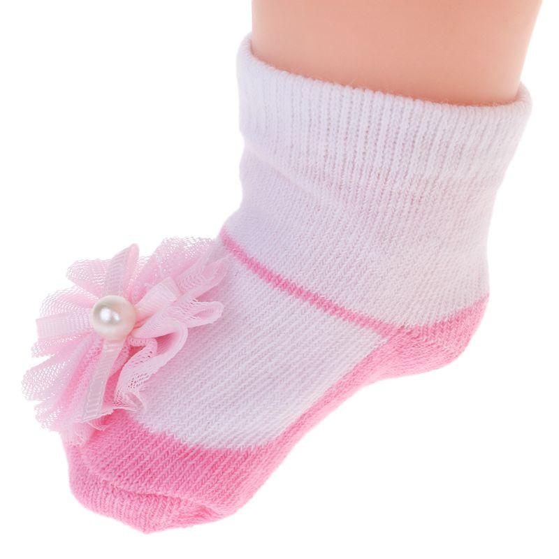 Baby Socks Wearproof Comfy Foot Warmer Newborn Lovely Design Medium Sock 3 Pairs