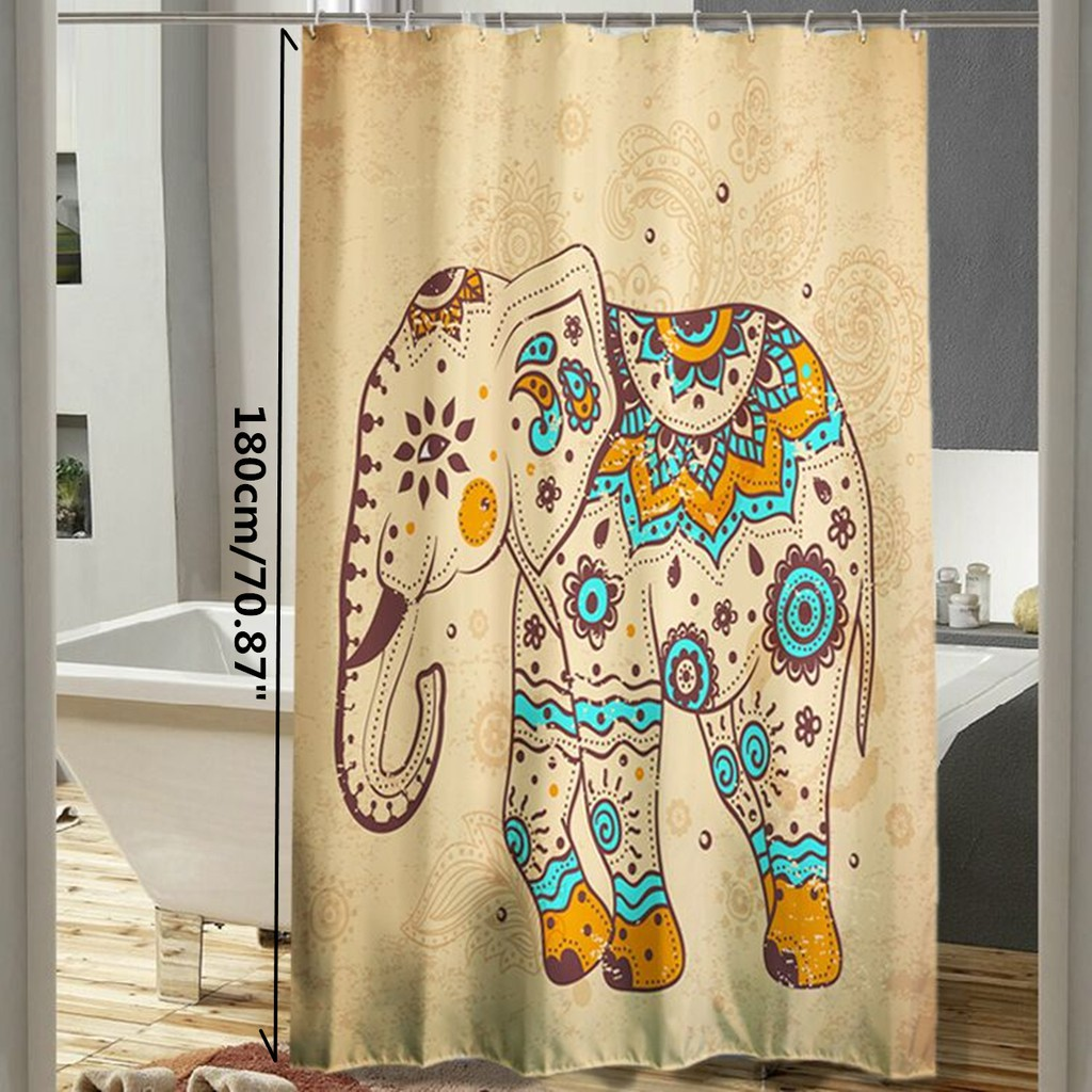 Bath Polyester Waterproof Bath Shower Curtain Divider Sheer
