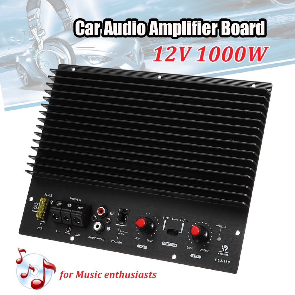 12v 1200w Car Audio Amplifier Board Car Audio Player For 8 10