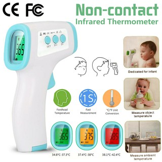 Touchless Thermometer,Non-Contact Infrared Forehead Thermometer Forehead Body Temperature Measurement For Adults And Children Lcd Display,Purple,1PCS
