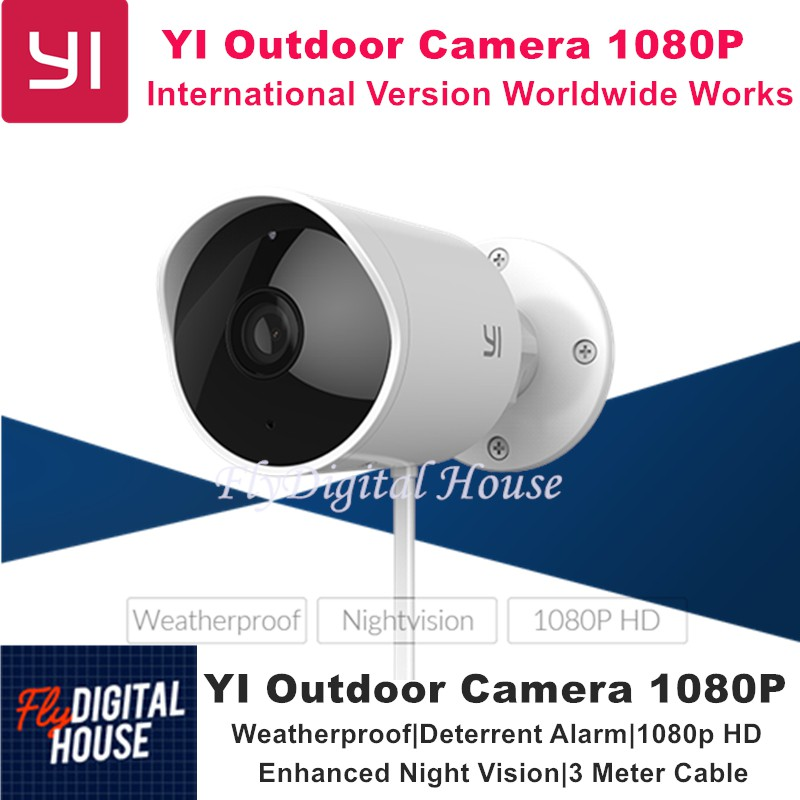 XIAOMI YI Outdoor Camera 1080P HD|Weatherproof|Deterrent Alarm|Night Version