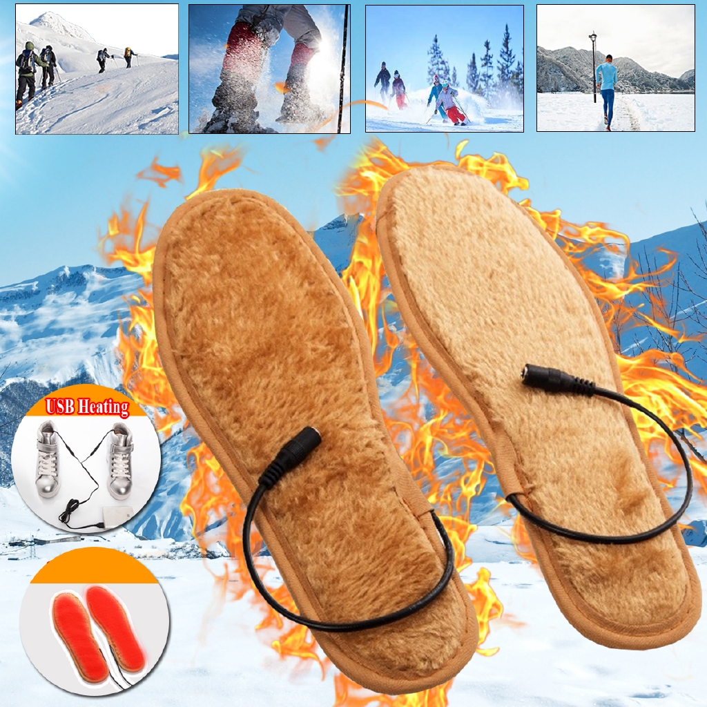 8dfc3b395a12 Electric USB Heating Thickening Shoe Insoles Warm Sock Feet Heated Warmer  Pad