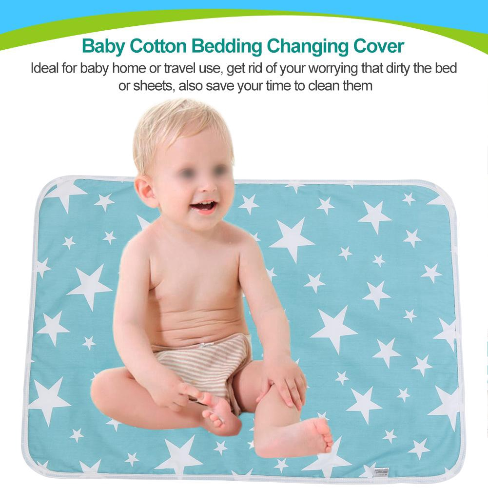 Blue Pattern 50cm*70cm Baby Waterproof Urine Mat Changing Pad Cover Change Mat 1PC