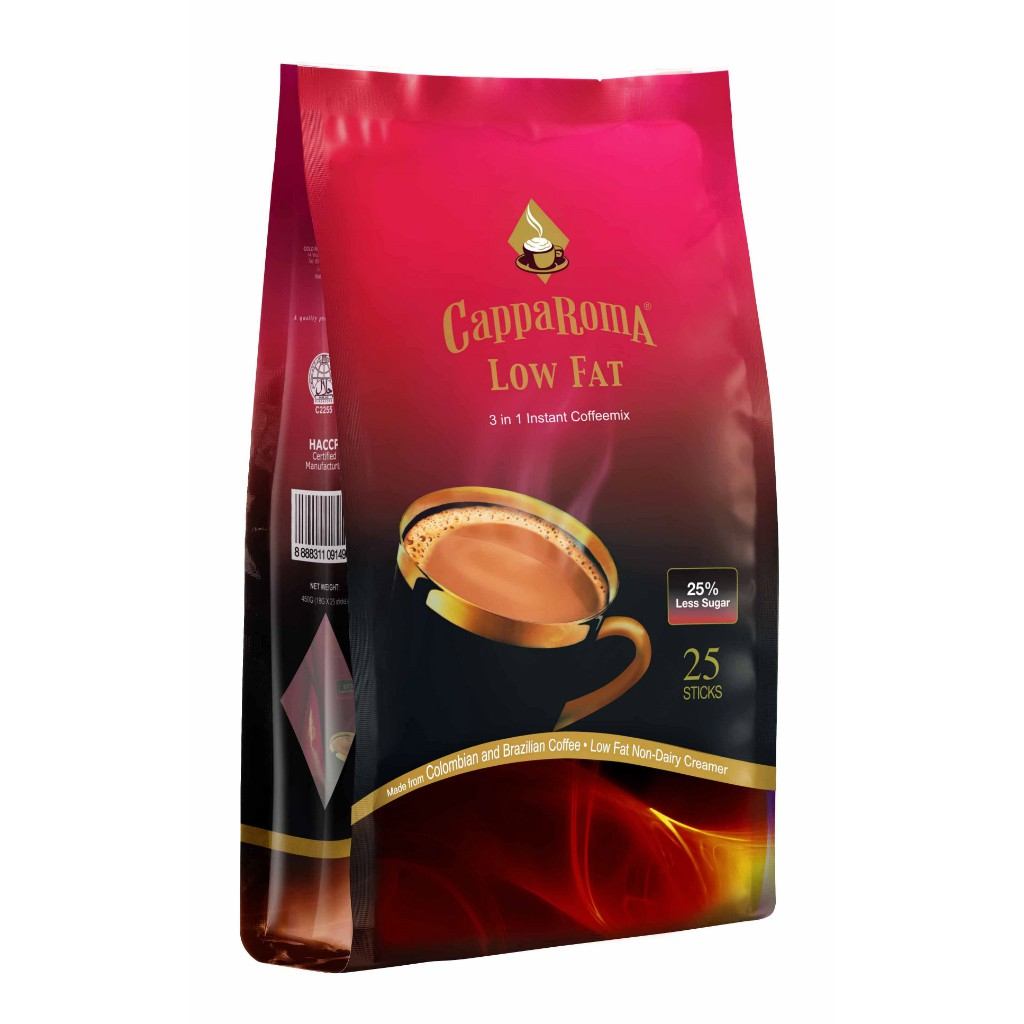 CappaRoma Low Fat 3in1 Instant Coffeemix 25% Less Sugar | Shopee Singapore