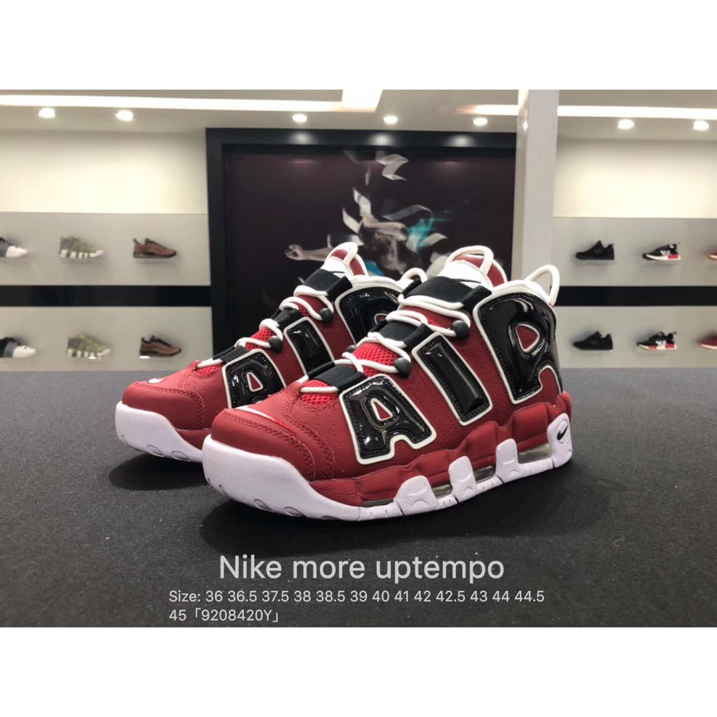 promo code 1629d 989cf Korean purchasing authentic Supreme X Nike Air More Uptempo 902290-001  right bas   Shopee Singapore