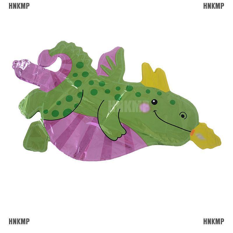 5pcs Mini Fire Dragon Foil Balloons Birthday Party Decor Kids Toys Dinosaur  X