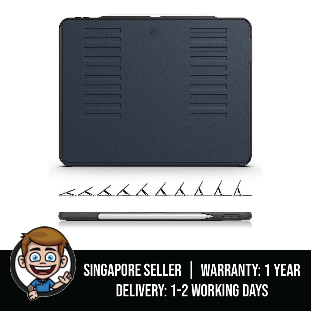 2018 iPad Pro 11 inch Case Prodigy X Convenient Magnetic Stand Sleep//Wake Cover Navy Blue 2018 iPad Pro 11 ZUGU CASE Very Protective But Thin