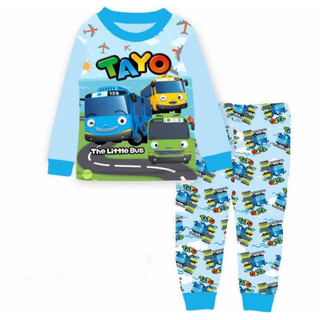 Kids pyjamas set Tayo Paw Thomas Pororo Sleepwear ( 4 designs)