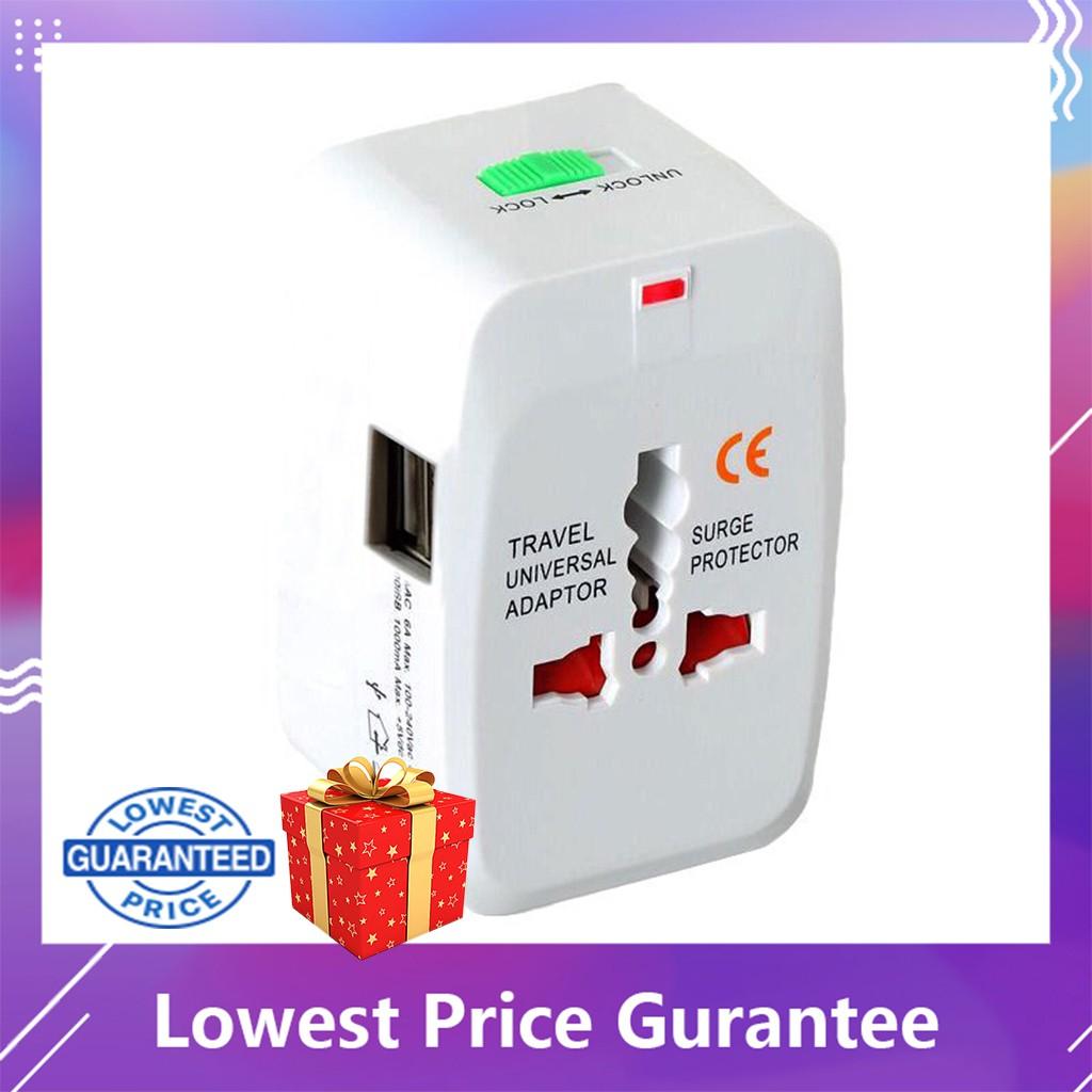 🎁+Travel Adapter,International Plug Adapter Kits(White)