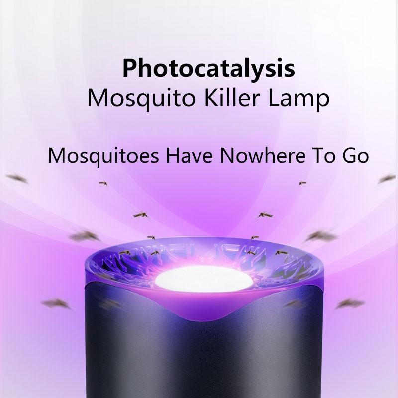 USB Smart LED UV Mosquito Killer Lamp Repellent Bug Mosquito Trap  Intelligent