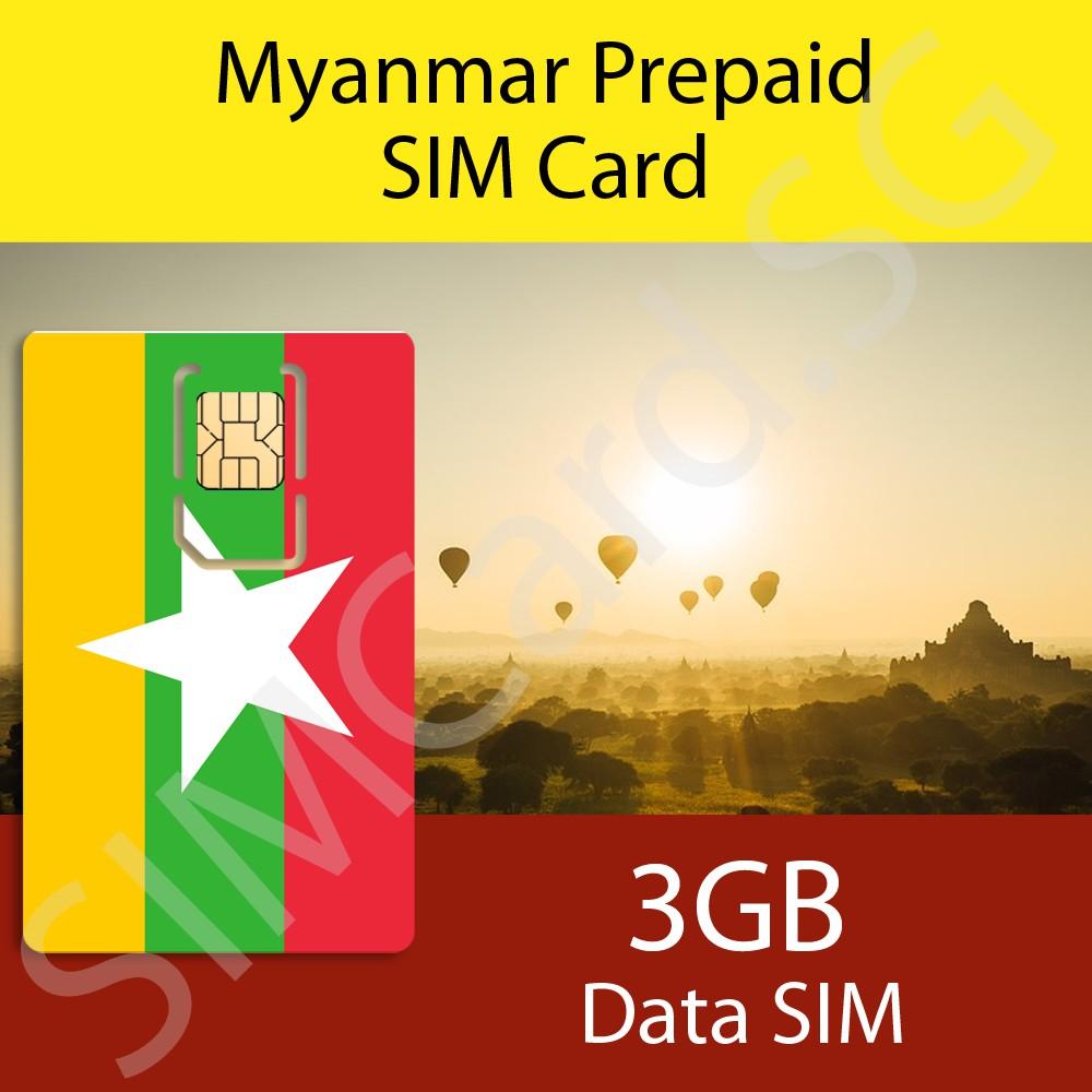 Myanmar (Burma) Prepaid SIM Card
