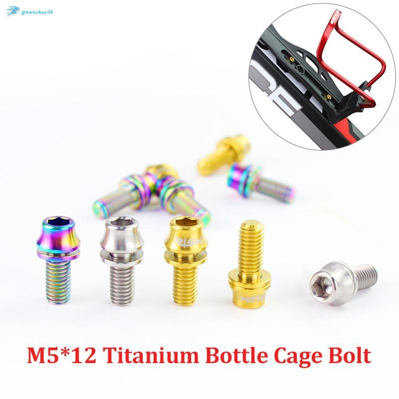 1**M5x12mm Titanium Bicycle Water Bottle Cage Bolt Bicycle Bottle Holder*ScrFLA