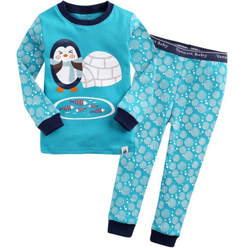b59718d0 Vaenait Baby 12M-7T Kids Boys Long sleeve Pajama 2pcs Set Egloo Penguin