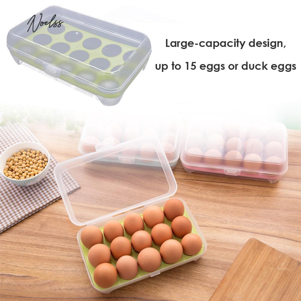 Storage Box 15 Grids Egg Holder Cartons