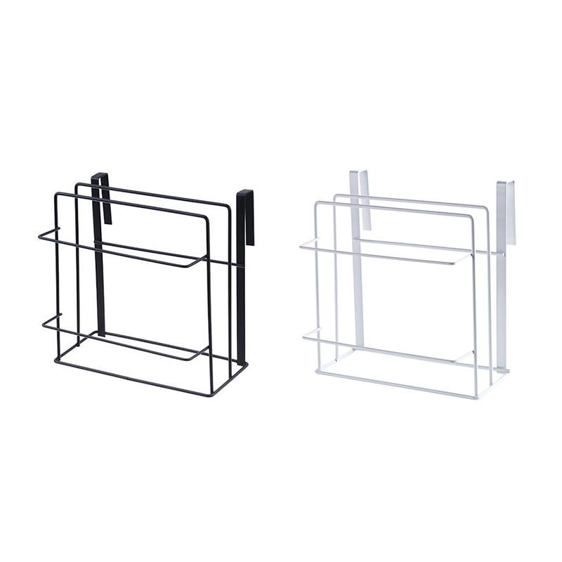 Double Layer Iron Kitchen Cabinets Shelf Chopping Board Storage Rack Shelves