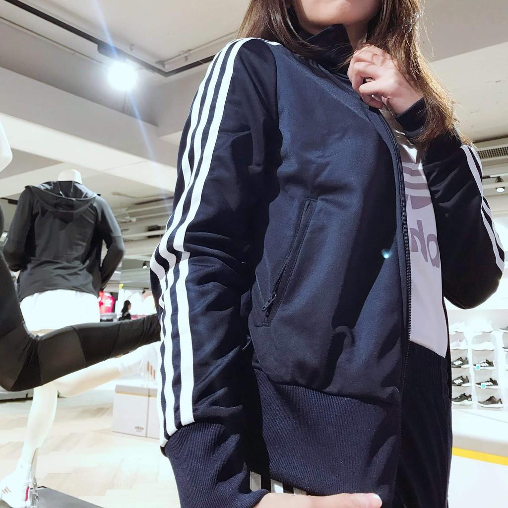 adidas originals clover sport jacket set line blue