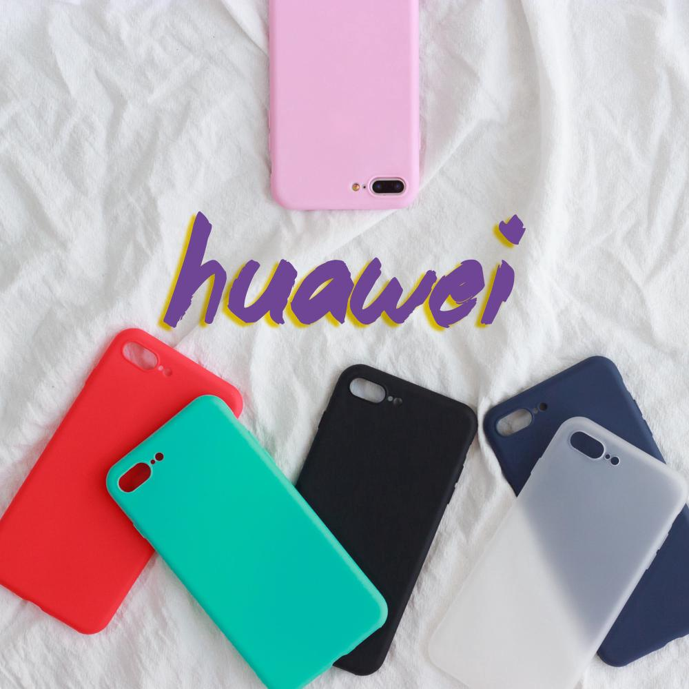 🔅 Huawei Y7 Y6 Pro Y9 2019 Cover Case Soft Plain Matte Jelly Phone Casing