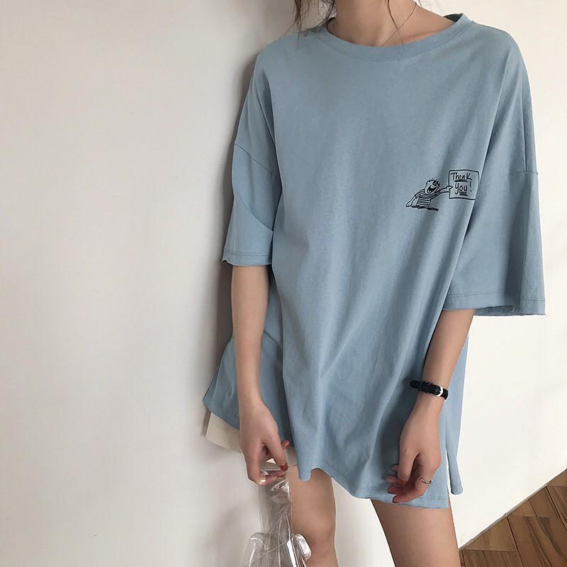 Clever Shirt Female Long-sleeved 2018 Summer New Shirt Han Fan Embroidery Striped Korean Shirt Cartoon Monkey Alphabet Women's Clothing