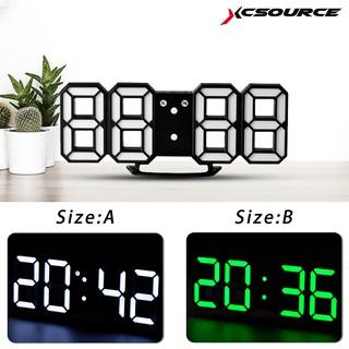 Large Multifunction Modern 3D Digital LED Wall Clock 12/24