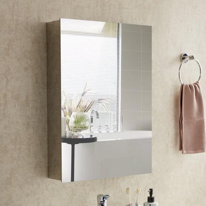 Stainless Steel Mirror Cabinet, Brushed Steel Bathroom Mirror