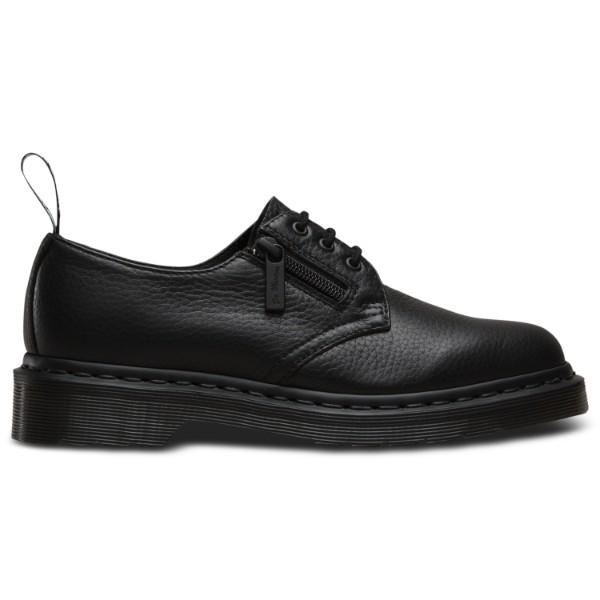 Dr. Martens Womens 1461 WZip 3 Eye Shoe Black Aunt Sally 22241001