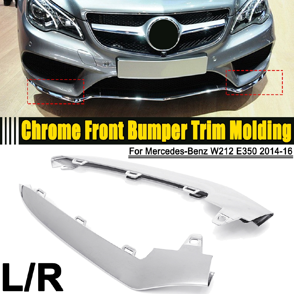 MB C-CLASS W204 2007-2011 NEW FRONT BUMPER CHROME MOULDING TRIM RIGHT O//S