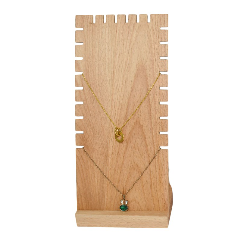 Wood+PU Necklace Jewelry Earring Display Stand Easel Rack for Shops Stores