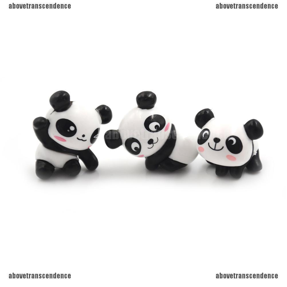 8Pcs Kawaii Panda Action Figures Kids toy Gift Mini PVC Preschool Toy Set PV