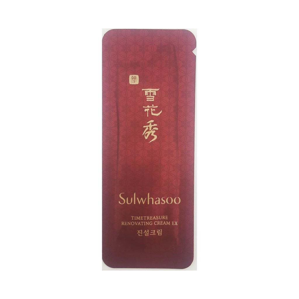 30ea Sulwhasoo Timetreasure Renovating Cream Ex 1ml Shopee Singapore Time Treasure 60ml
