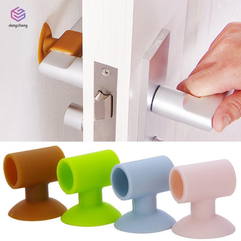 4pcs Silicone Door Handle Knob Crash Pad Wall Protectors Kitchen Tool H